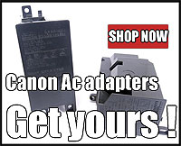 Click here to buy Canon AC Adapters